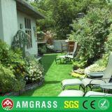 Césped artificial antiusura del patio recto y rizado