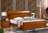 Кровать гостиницы, мебель спальни Китая, деревянная кровать (9086)
