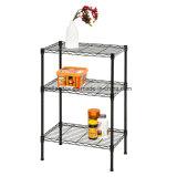 3 organizador revestido de epoxy blanco del estante del almacenaje de la cocina del metal de las gradas DIY 40kg