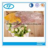 De transparante Vlakke Zak van het Voedsel van de Supermarkt op Broodje