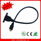 Gold Plated 1.4V HDMI Male zu HDMI Female Panel Mount HDMI Cable
