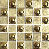 Decoração dourada mosaico cerâmico de parede