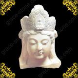Tête de Bouddha sculpté de sculpture de pierre