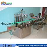 Cadena de producción detergente máquina de rellenar líquida con la máquina de etiquetado
