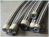 Qingdao-Edelstahl PTFE/Teflon gezeichneter Flangle Metalschlauch