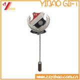 昇進のギフト(YB-LY-B-08)のためのカスタムロゴの銀の折りえりPinのブローチ