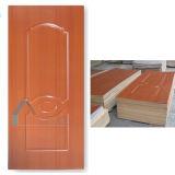 Piel de la puerta de la chapa de la melamina de la cereza/puerta moldeada de HDF
