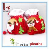 Bolsos portables del regalo de Papá Noel del paño rojo de Pleuche de los productos de la Navidad de las decoraciones de la Navidad