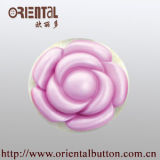 Brush tinto Polyester Resin Button per Fahion Garments (H-1849)