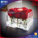 Cadre rond acrylique fait sur commande de fleur avec le logo