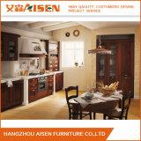 Modules de cuisine classiques en bois solide d'approvisionnement de constructeur de la Chine