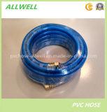 Tuyau à haute pression en plastique bleu de pulvérisateur d'air de PVC