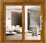 Раздвижная дверь порошка Coated алюминиевая горизонтальная стеклянная с Netscreen