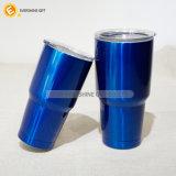 taza azul del recorrido del acero inoxidable 600ml