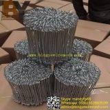 Galvaniser recuits à revêtement en PVC noir Double boucle de fil Tie