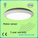 Emergência 20W 30W 40W Radar Microondas Sensor de Movimento IP65 Round LED Ceiling Light