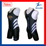 Cool Sublimation Mens Wrestling Gear Singlets