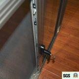 Pega escura com janela de alumínio anodizado chave Janela de correr com mosquito K01070
