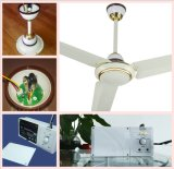 """Ventilador de techo de 56 """"230V AC DC con batería incorporada y motor de cobre puro"""
