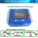 Chademo en CCS Combo 2 Draagbare EV Lader 10kw