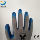 13G Nitrile White Polyester Shell, Blue Nitrile Coated, Gants de Travail (N7005)