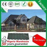 Feuille en aluminium de toiture de toit de pierre de matériau de construction en métal enduit de tuiles 50 ans de garantie