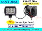 Светодиодный индикатор автомобиля 27Вт Светодиодные рабочего освещения 4 дюймов вне дорог