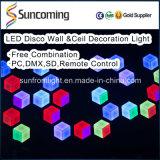 Decoração do casamento DJ efeito de iluminação LED 3D Painel Wall Light