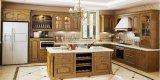 Het klassieke Ontwerp Van uitstekende kwaliteit van de Douane van de Keuken van de Keukenkast Stevige Houten (zq-005)