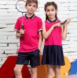 Chemise de polo chaude d'uniforme scolaire d'enfants de coton de vente d'OEM de type neuf pour l'usure d'élèves