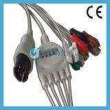 One Piece 5 - Lead ECG Cable con hilos conductores