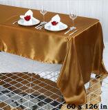 Roxo do Tablecloth do retângulo para panos de tabela da decoração do casamento
