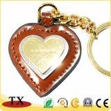 Encadenamiento dominante de cuero en forma de corazón de encargo vendedor caliente de la PU del anillo dominante