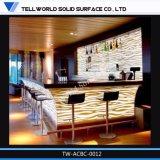 바 싱크대 대중음식점 LED 대리석 돌 바 카운터 디자인