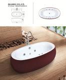 El color rojo Jacuzzi hidromasaje bañera para la casa
