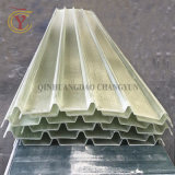 Hoja de tragaluz corrugado plástico reforzado con fibra de plástico de fibra de vidrio, Mosaico ondulado