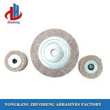 Nenhum Shank Intercalado Borboleta de polimento de rodas para moedores de polimento de lixagem