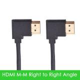 HDMI Kabel mit Winkel 90 Grad-linke Drehung rechtsdrehend irgendeine Länge für HDTV 1080P