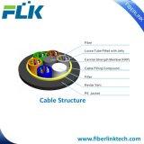 Tout le câble aérien de fibre optique autosuffisant diélectrique d'ADSS