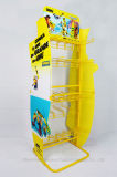 Présentoir s'arrêtant de produits de beauté de crémaillère de renivellement de crochet de qualité jaune