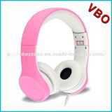 I nuovi bambini delle cuffie dell'orecchio di colore rosa di alta qualità di disegno hanno collegato la cuffia avricolare elettricamente