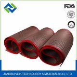 Bandas transportadoras de PTFE del acoplamiento revestido de alta temperatura de la fibra de vidrio