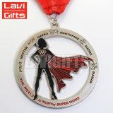 Médaille courante de sport de marathon de méta fait sur commande de récompense avec la bande