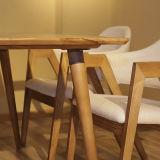 Sala de estar moderna mobília Hotel Restaurante mesa de jantar em madeira (D12)