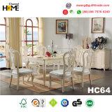 De Europese Vierkante Eettafel van het Meubilair van de Stijl Houten met Marmer (HC64)