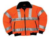 Uja011100% 폴리에스테 반대로 Pilling 극지 Fleece 외투 사려깊은 피복 Parka 비옷 Worksuit 재킷