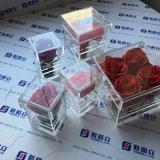 Rosa De Lujo Mini Embalaje acrílico con tapa conservados Cuadro de flores