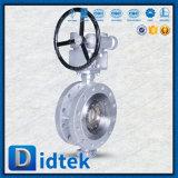 Didtek는 디스크 물개 기어 유형 스테인리스 나비 벨브를 박판으로 만들었다