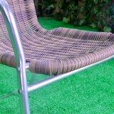 Presidenza chiara di alluminio di vimini del rivestimento del patio della casa dell'hotel del giardino esterno dell'ufficio (J839)