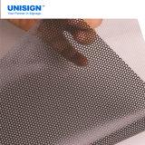 Visión unidireccional auta-adhesivo Vinil de la calidad económica/etiqueta engomada de Microperforado del vinilo para la impresión solvente